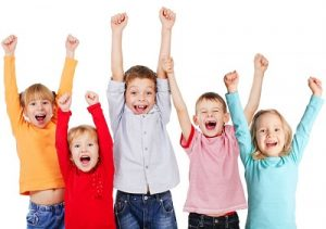 Happy children after balance disorder treatment